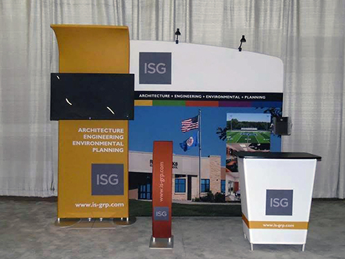 Marketing & Trade Show Booth Design - ISG Trade Show Booth