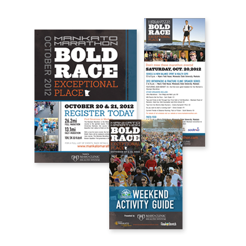 Mankato Marathon Marketing Material Design