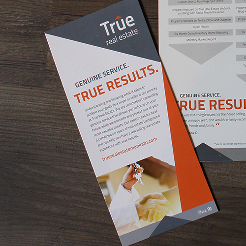Marketing Material Design - True Real Estate Marketing