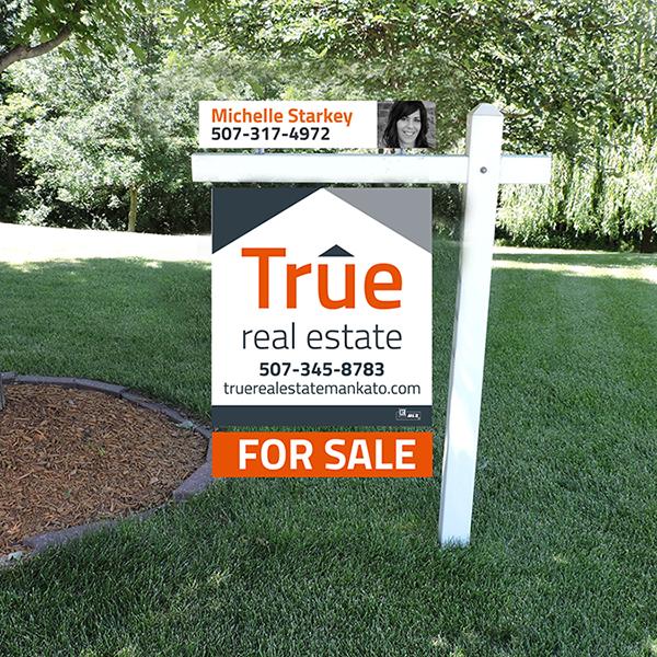True Real Estate Yard Sign Design