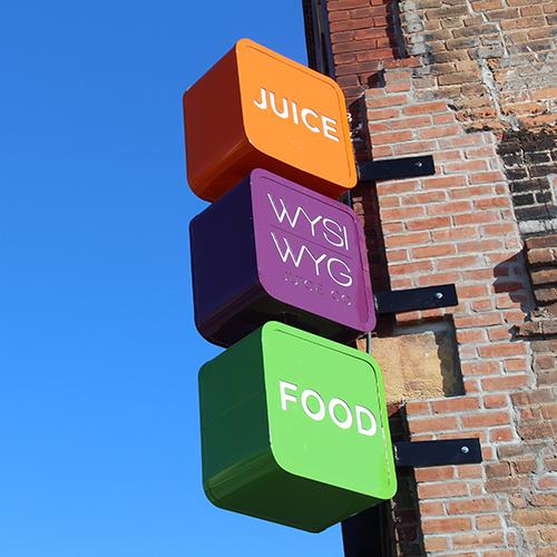 Exterior Signage Design - WYSIWYG Juice Company