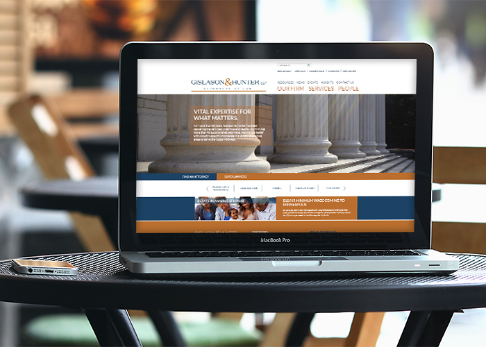 Gislason & Hunter Website Web Design & Development - Mankato NM