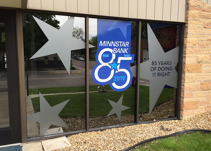 MinnStar Bank Exterior Signage Design