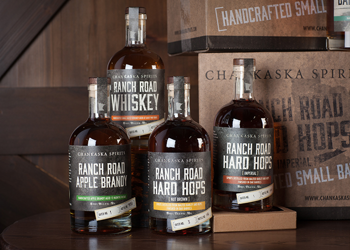 Chankaska Ranch Road Liquor Bottle Design by PresenceMaker