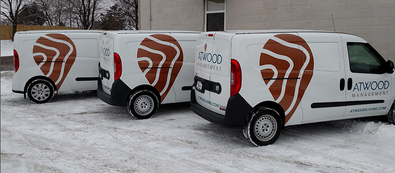 Example of vehicle wrapping design and installation in Mankato Minnesota