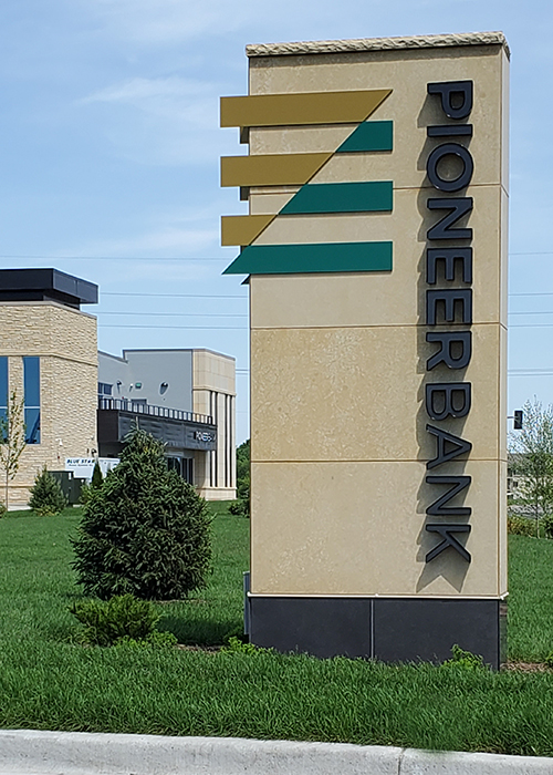 Pioneer Bank Monument Sign Design