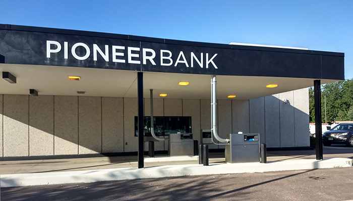 Pioneer Bank Exterior Signage Design and Installation