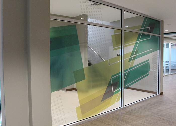 Pioneer Bank Branded Interior Graphic Design and Installation